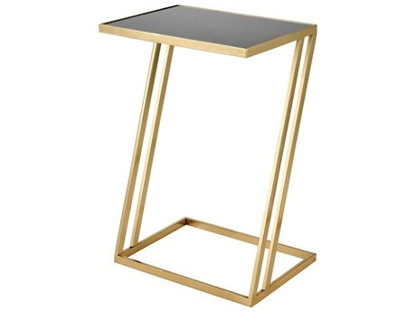 Elk Home Gold / Black 16'' Wide Rectangular End Table