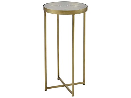 Elk Home Gold 12'' Wide Round End Table