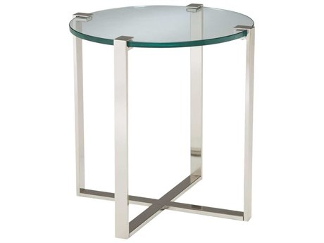Elk Home Clear Glass / Polished Nickel 25'' Wide Round End Table