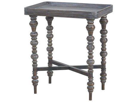 Elk Home Heritage Grey Stain 22'' Wide Rectangular End Table