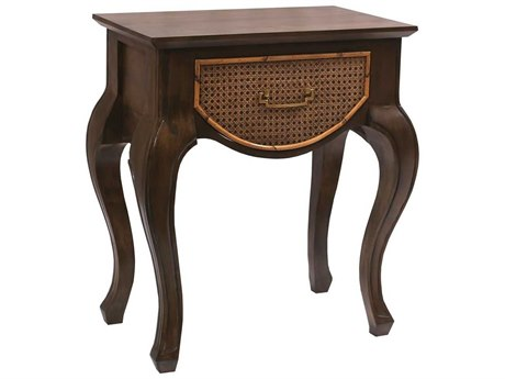 Elk Home Weathered Mahogany 24'' Wide Rectangular End Table