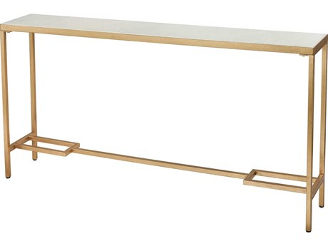 Elk Lighting Equus Gold / White 60'' Wide Rectangular Console Table