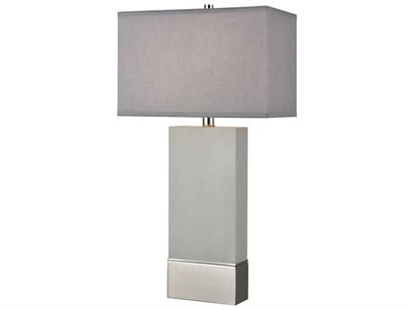 Elk Lighting Excalibur Grey Concrete / Silver Buffet Lamp EKD4106