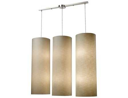 Elk Lighting Fabric Cylinders Satin Nickel 12-Light 43'' Wide Island Light