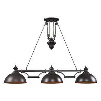 Elk Lighting Farmhouse Oiled Bronze Three-Light 13'' Wide Island Light EK651513