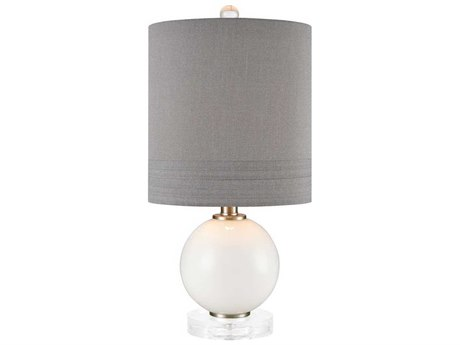 Elk Lighting Fay White / Clear Acrylic Crystal Glass Table Lamp