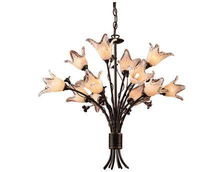 Elk Lighting Fioritura Aged Bronze 12-Light 29'' Wide Chandelier EK795984