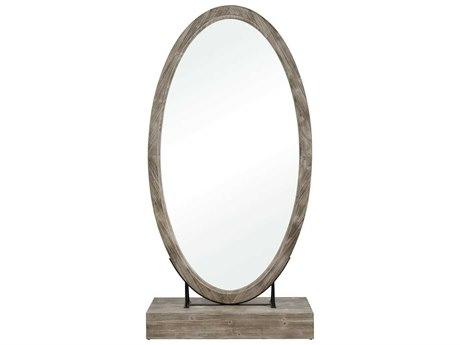 Elk Home Salvaged Grey Oak Floor Mirror