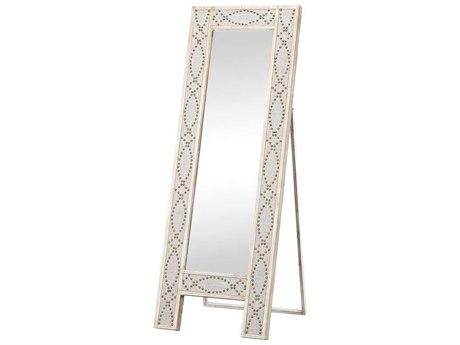 Elk Home Driftwood Grey / Natural Linen Floor Mirror
