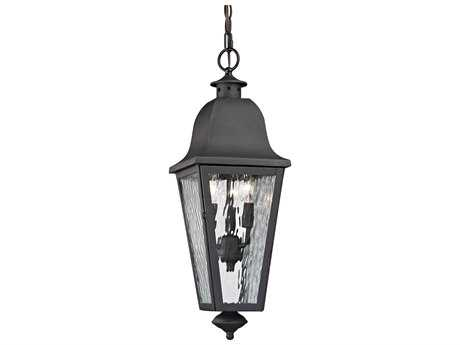 Elk Lighting Forged Brookridge Charcoal Three-Light Outdoor Hanging Light