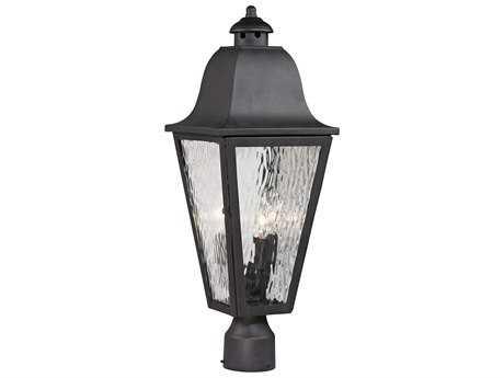 Elk Lighting Forged Brookridge Charcoal Three-Light Outdoor Post Light