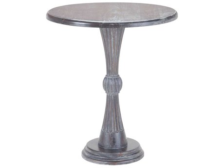 Elk Home Heritage Dark Grey Stain 24'' Wide Round Foyer Table