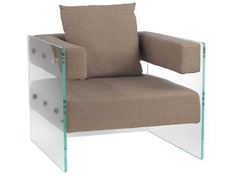 Elk Lighting Frankfurt Clear & Light Brown Accent Chair EK1203003