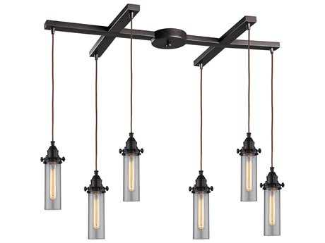 Elk Lighting Fulton Oil Rubbed Bronze Six-Light 33'' Wide Island Light
