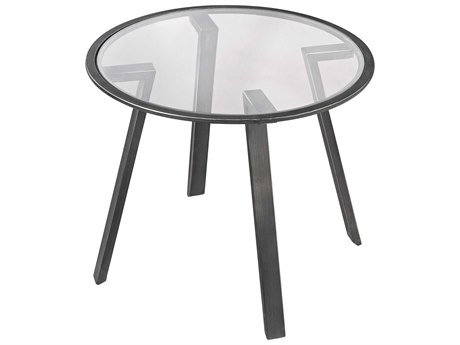 Elk Lighting Geometric 24'' Round Pewter Accent Table