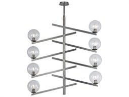 Elk Lighting Globes Of Light Brushed Black Nickel 42'' Wide Glass Medium Chandelier