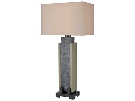 Elk Lighting Glomma Washed Grey Slate / Polished Concrete Buffet Lamp