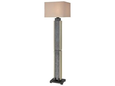 Elk Lighting Glomma Washed Grey Slate / Polished Concrete Floor Lamp