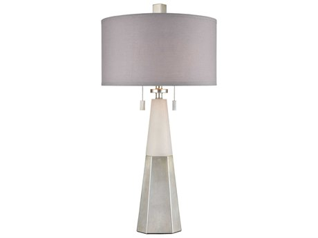 Elk Lighting Heliox Alabaster / Silver Leaf Buffet Lamp EKD4118