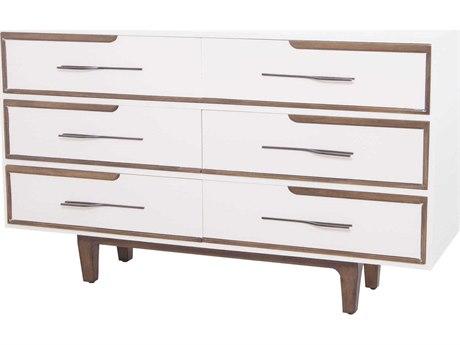 Elk Lighting Hendron Cappuccino Foam / Heritage Grey 6 Drawers Double Dresser