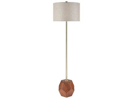 Elk Lighting Hot Spot Mahogany Wood Tone / Antique Gold Floor Lamp EKD3628