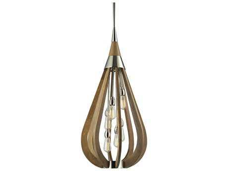 Elk Lighting Janette Polished Nickel Six-Light 19'' Wide Pendant
