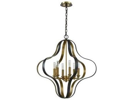 Elk Lighting Janis Aged Bronze / Brass 27'' Wide Medium Chandelier