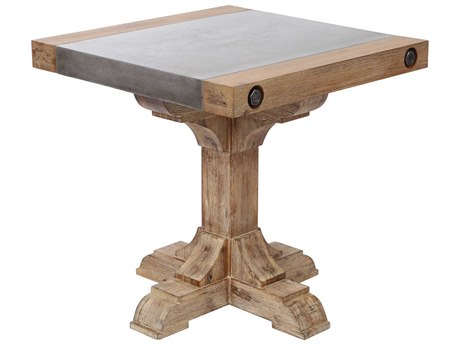 Elk Lighting Kingdom Atlantic Brush / Polished Concrete 23'' Wide Square End Table