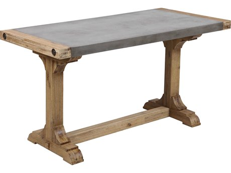 Elk Lighting Kingdom Atlantic Brush / Polished Concrete Secretary Desk