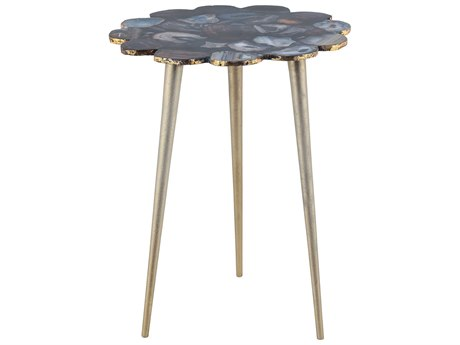 Elk Lighting Knossos Gold & Black 16'' Round Side Table