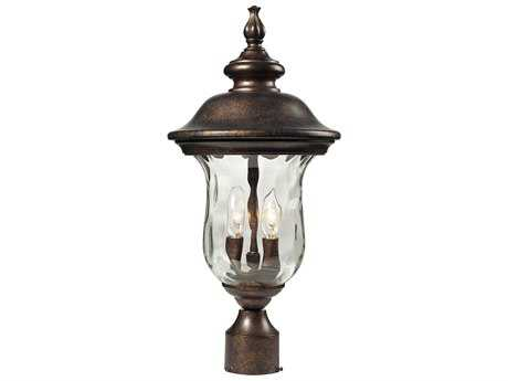 Elk Lighting Lafayette Regal Bronze Two-Light Outdoor Post Light