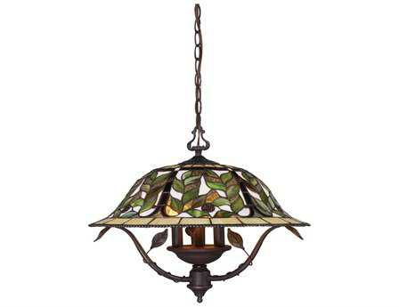 Elk Lighting Latham Tiffany Bronze Three-Light 21'' Wide Mini Chandelier EK08016TBH
