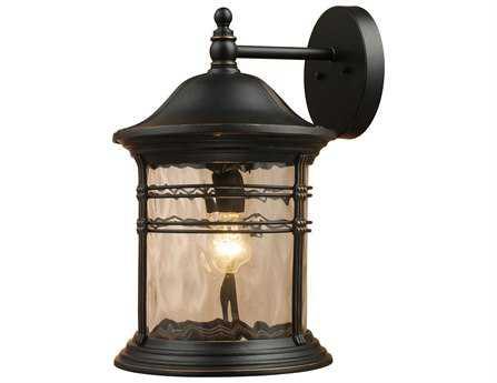 Elk Lighting Madison Matte Black Outdoor Wall Light EK08163MBG
