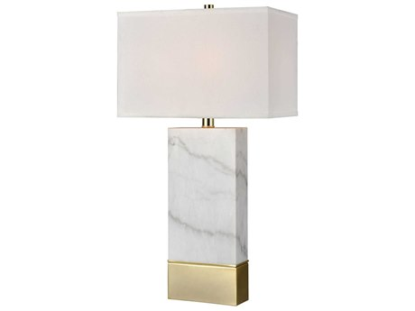 Elk Lighting Mantua White Marble / Gold Buffet Lamp EKD4105