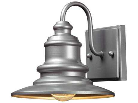 Elk Lighting Marina Matte Silver 8'' Wide Outdoor Wall Light