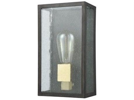 Elk Lighting Mckenzie Blackened Bronze / Brushed Brass Glass Outdoor Wall Light