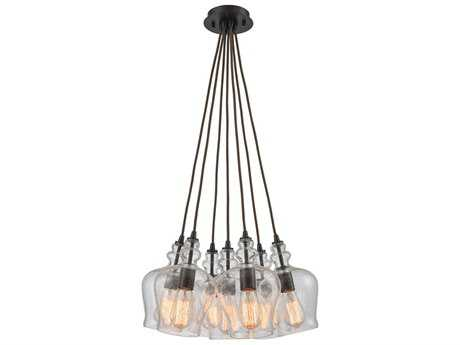 Elk Lighting Menlow Park Oil Rubbed Bronze 19'' Wide Pendant