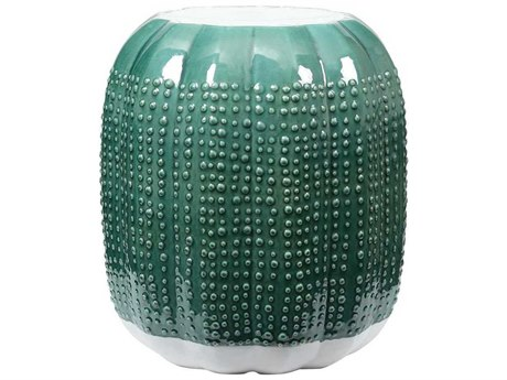 Elk Lighting Mexicali Emerald Crackle / New White Accent Stool