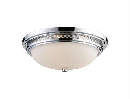 Elk Lighting Flush Mount Light Polished Chrome Three-Light 16'' Wide Flush Mount Light