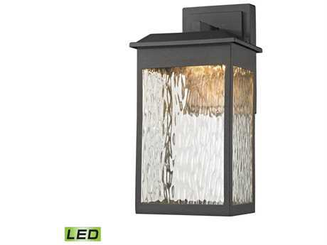Elk Lighting Newcastle Textured Matte Black 7'' Wide LED Outdoor Wall Light EK45200LED