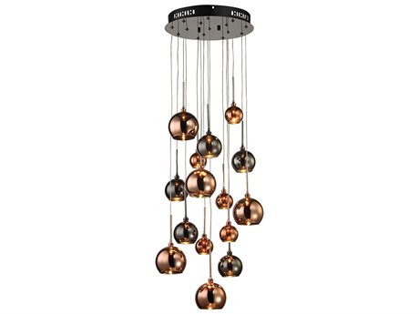 Elk Lighting Nexion Black Chrome 15-Light 14'' Wide Pendant Ceiling Light