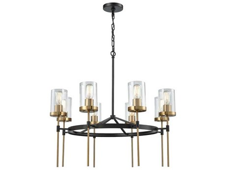 Elk Lighting North Haven Oil Rubbed Bronze/Satin Brass Eight-Light 31'' Wide Chandelier