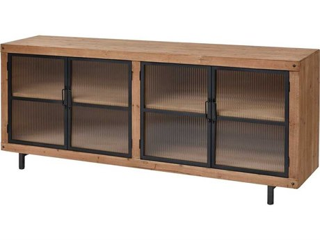 Elk Home Natural Wood Tone / Black TV Stand EK3187020