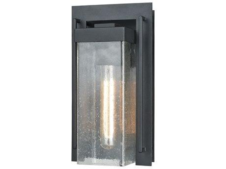 Elk Lighting Overton Matte Black Glass Outdoor Wall Light