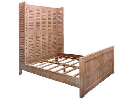 Elk Home Latte Mahogany Queen Panel Bed