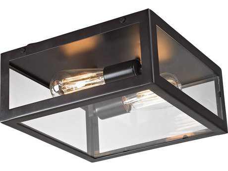 Elk Lighting Parameters-Bronze Bronze Two-Light 12'' Wide Flush Mount Light