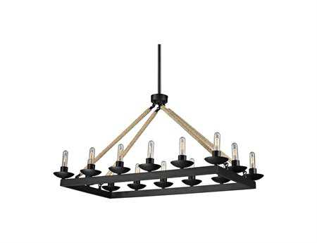 Elk Lighting Pearce Matte Black 14-Light 43'' Wide Chandelier EK1590414