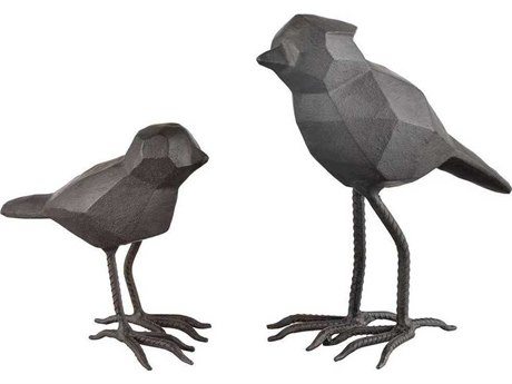 Elk Lighting Pecking Order Black Sculpture (Set of 2)
