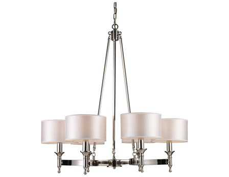 Elk Lighting Pembroke Polished Nickel Six-Light 31'' Wide Chandelier EK101236