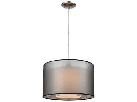 Elk Home Black / White One-Light 16'' Wide Pendant